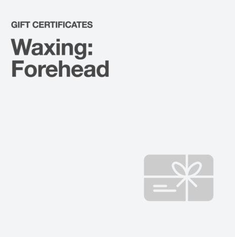 Waxing: Forehead