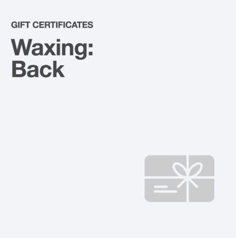 Waxing: Back