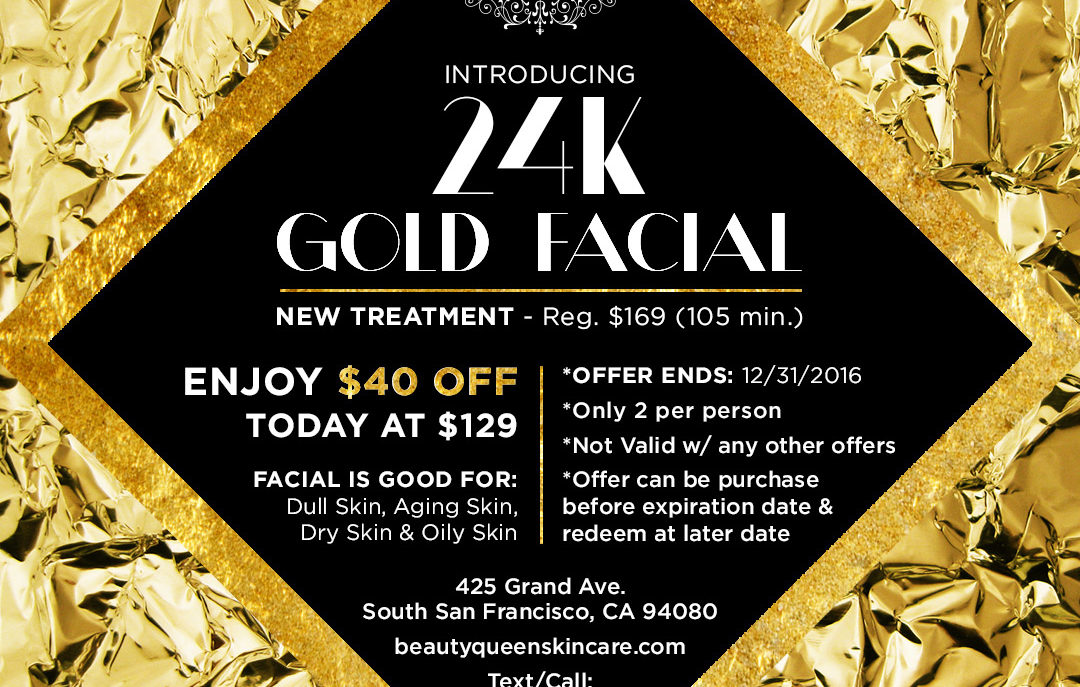 24K Gold Facial Promotion