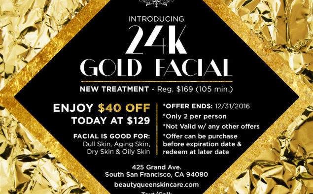 24K Gold Facial Promotion
